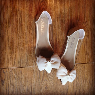 shoes pointed flats bow nude pumps pretty cinderella shoe