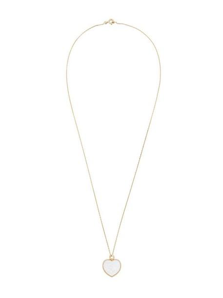 AURELIE BIDERMANN heart women baby necklace diamond necklace gold grey metallic jewels