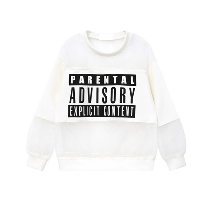 Parental advisory mesh sweater 2 – holypink