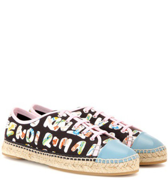 Fendi sneakers leather black shoes