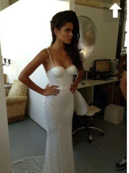 dress fishtail mermaid dress mermaid sparkly dress prom fitted tight white fishtail dress fitted dress long sequins maxi white prom dress tight strap wedding dress model