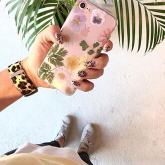 phone cover yeah bunny daisy flowers pastel