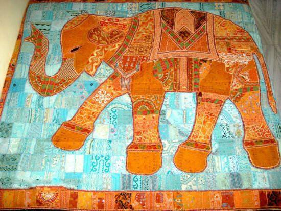bohemian elephant bed cover hand stitched baby blanket dorm tapestries