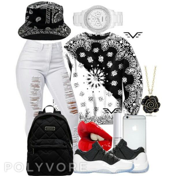 sweater crewneck bandana print bucket hats jeans bag home accessory dress earphones gloves