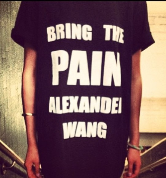 white shirt alexander wang black amazing fashion