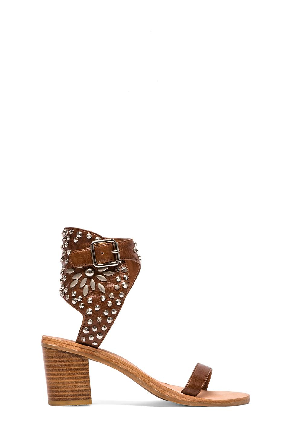 Jeffrey Campbell Des Moines Sandal in Tan & Silver from REVOLVEclothing.com