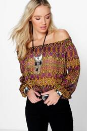 top,multicolor top,multicolor blouse,off the shoulder top,off the shoulder blouse,boohoo colorful top,boohoo colorful blouse,colorful top,colorful bloose,boohoo off the shoulder top,boohoo off the shoulder blouse,boohoo multicolor top,boohoo multicolor blouse,blouse