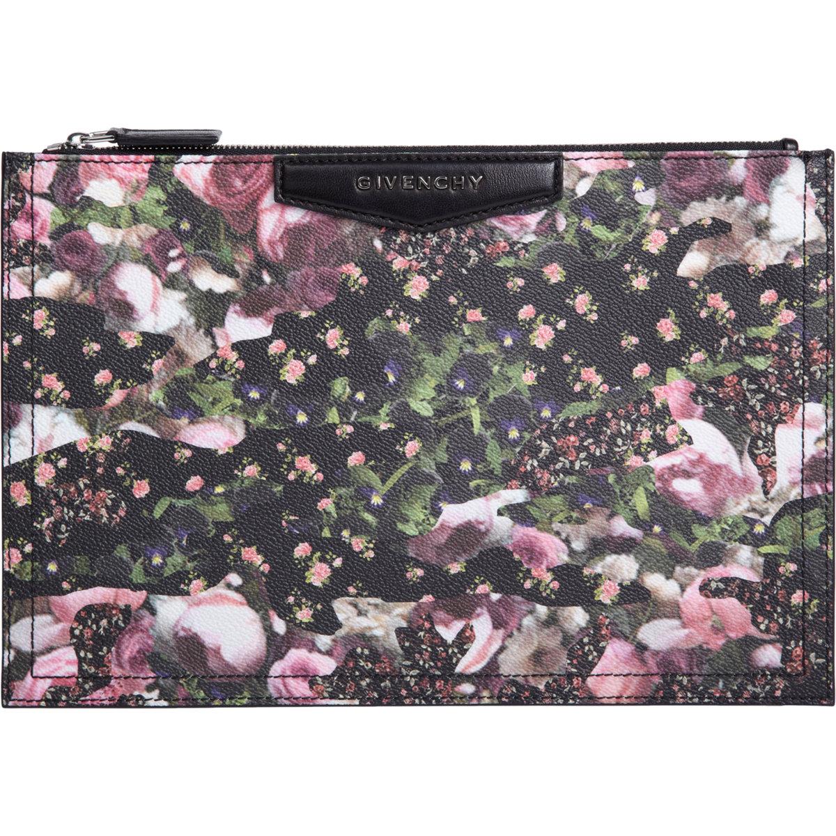 Givenchy Medium Antigona Floral Camo Zip Pouch at Barneys.com
