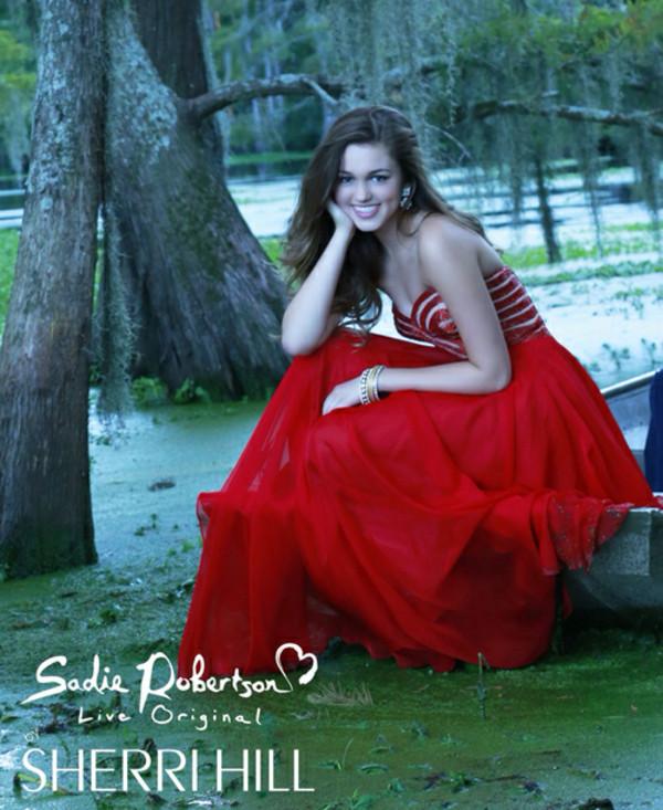 dress red dress long dress prom dress prom gown sweetheart nekline
