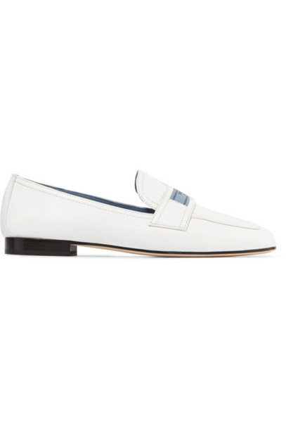 Prada loafers leather white shoes