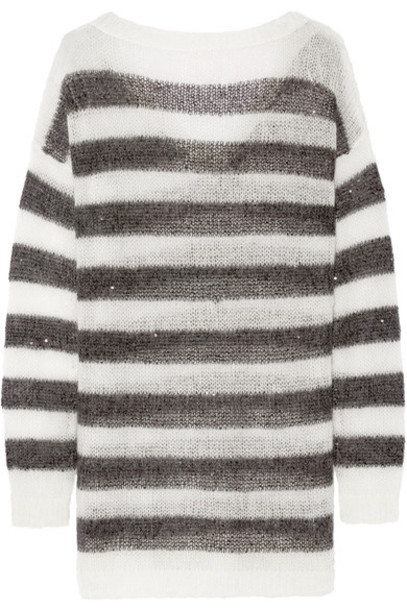 Karl Lagerfeld - Striped Knitted Sweater - Black