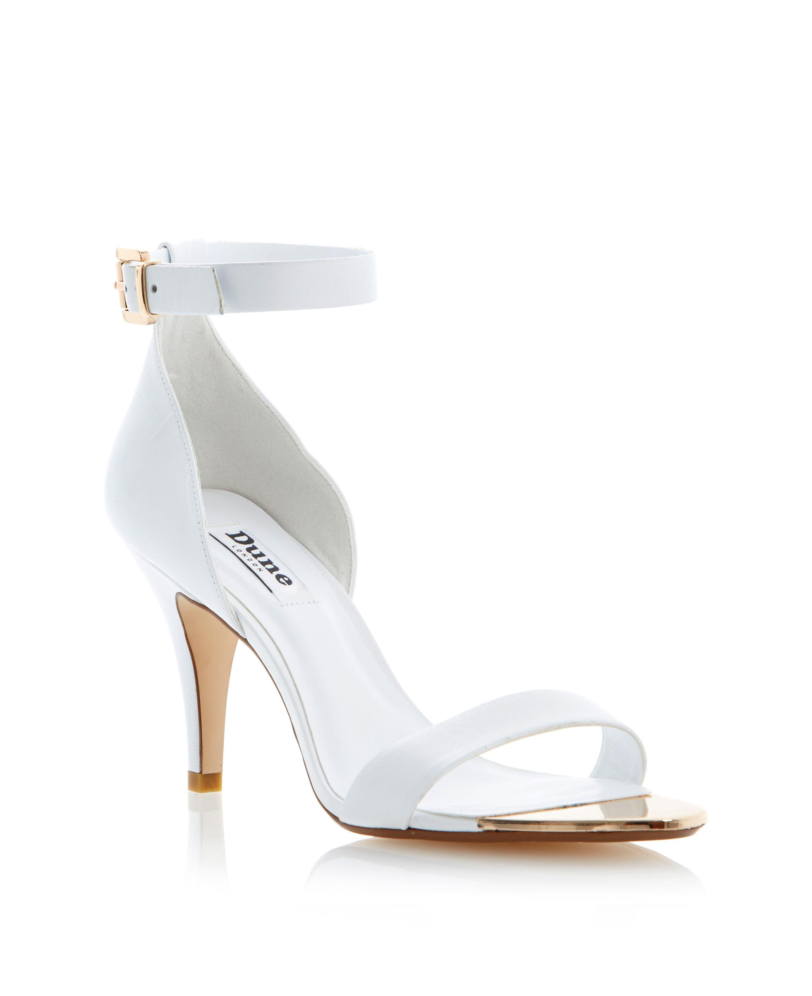 White Sandal Heels - Is Heel