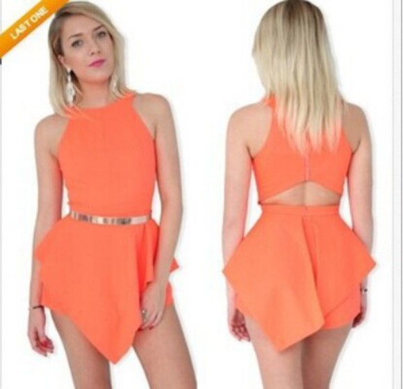 asymmetrical off the shoulder pary dress solid hollow waist sexy back