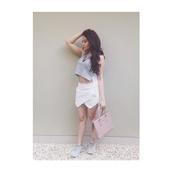 skirt,skorts,white skort,wrap skirt,summer skirt