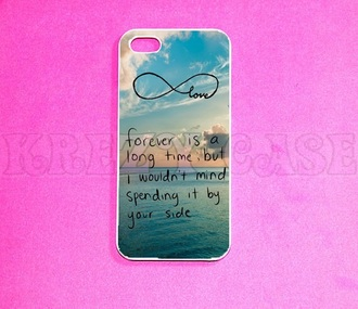phone cover iphone 5 case iphone cover love quotes forever infinity