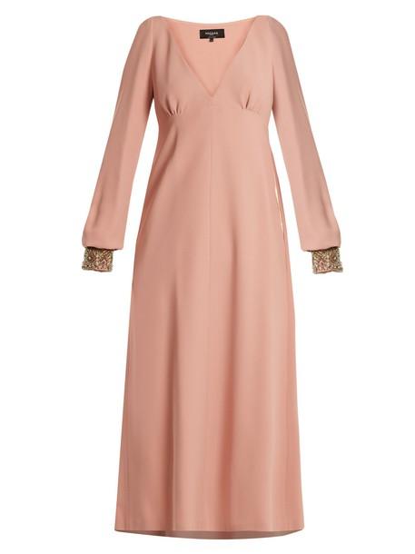 Rochas dress embellished pink