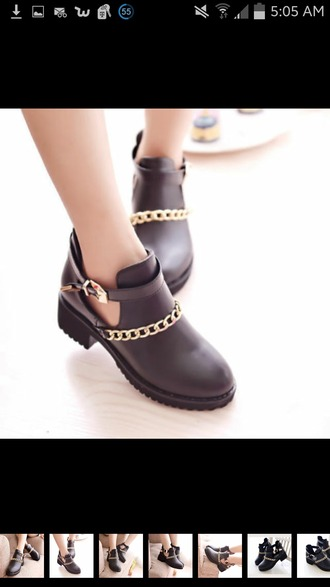 shoes grunge ankle boots black punk