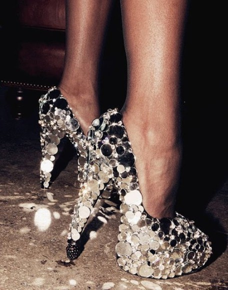shoes sparkly glitter sassy heels classy girly party