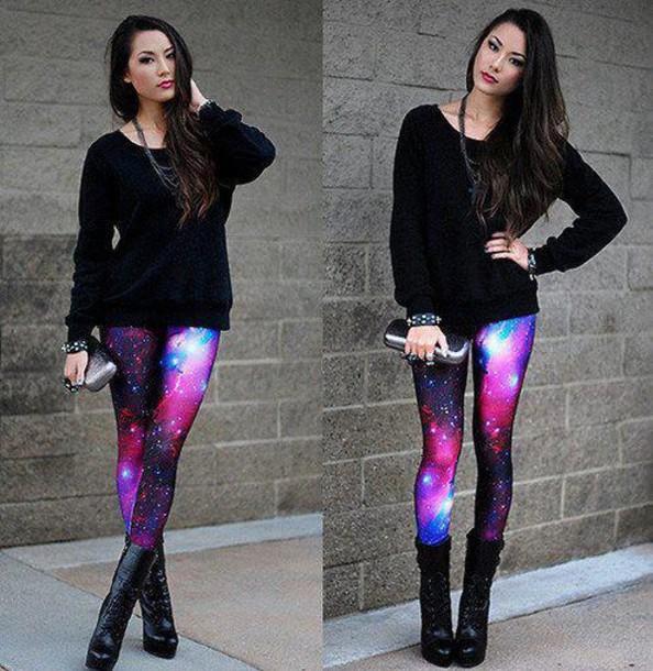 95534c30621b pants legging galaxy galaxy print galaxy print galaxy print black milk  inspired colorful leggings wanting perfection