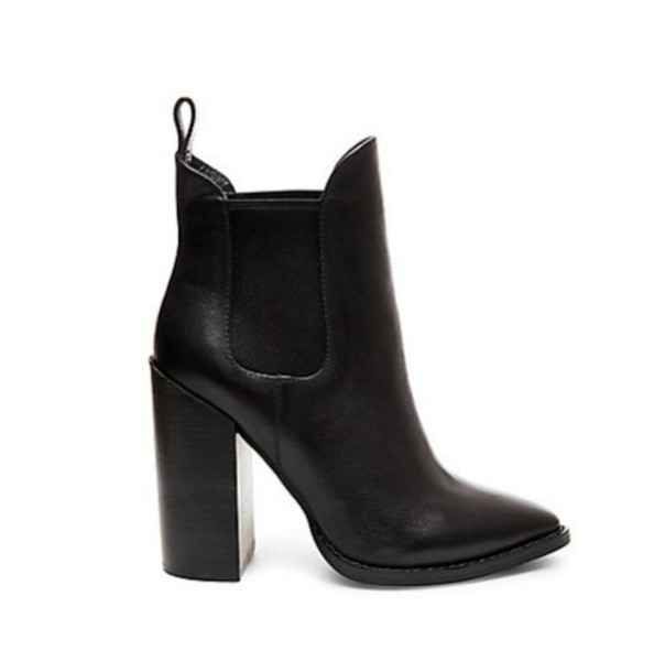 022e4827889 shoes boots booties fall outfits cold fall outfits heels black leather  stylish autumn boots steve madden