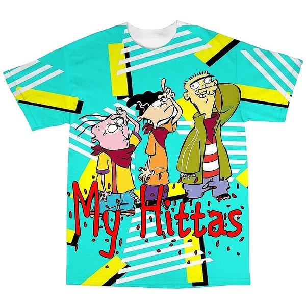 ed edd & eddy cartoon cartoon dope sublimated t-shirt new