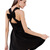 Black Criss Cross Backless Bow Pleated Dress - Sheinside.com