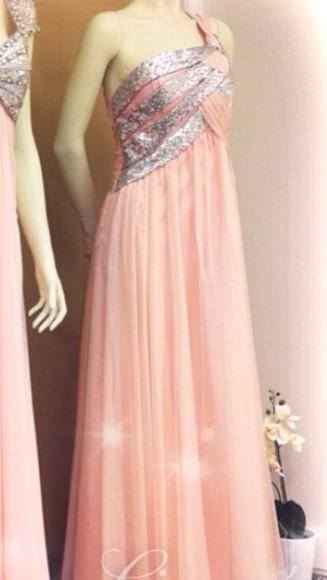 prom dress sparkle dress pink dress prom dresses 2014