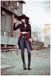 jag lever,blogger,top,belt,shoes,jacket,jeans,hat
