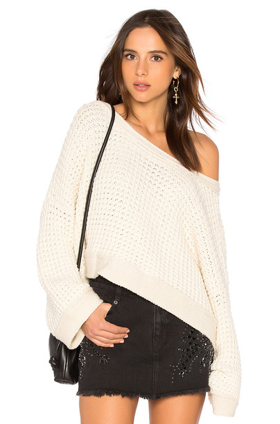 Free People sweater baby white
