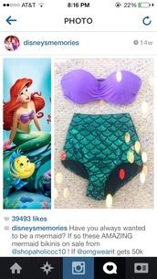 swimwear,disney swimwear,the little mermaid