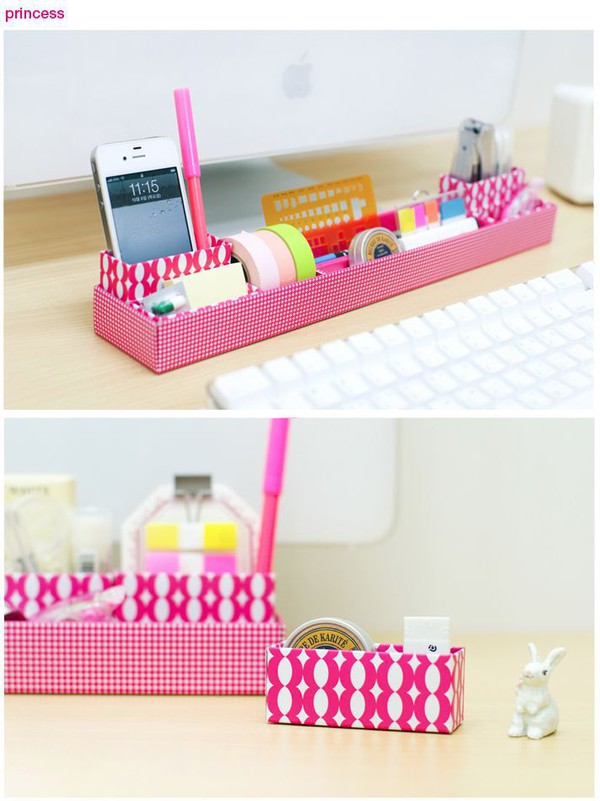 Home accessory organizer office outfits girly desk pink pattern office supplies - Girly office desk accessories ...