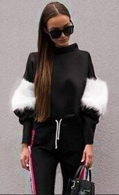 sweater,black,black sweater,black sweater with fur,white fur,casual,black and white,black and white sweater,black top,loose,oversized,baggy cardigan,casual top,fall outfits,jeans top,cute,cute top,urban,fashion top,girl,girly,girly wishlist,preppy,pretty,winter top,moraki,fur sleeves,winter outfits,winter sweater,fall sweater,fall colors,furry top,streetwear,streetstyle,street,holiday season,holiday gift,style,oversized cardigan,fashion