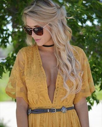 dress lace yellow blonde hair chloe maxi dress mustard
