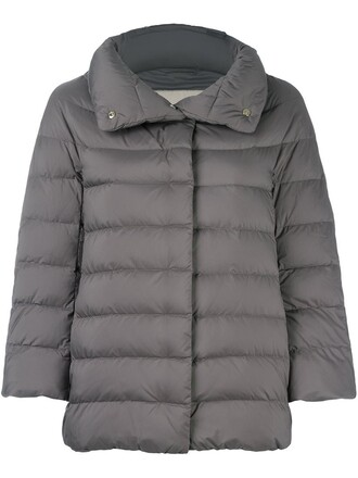 jacket women quilted grey