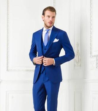 pants blue suit suits suit jacket vested suit