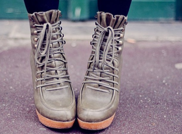 high heels boots wedges leather lace up ankle boots black shoes brown shoes green shoes shoes