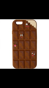 phone cover,iphone 6 chocolate bar silicone   silly faces