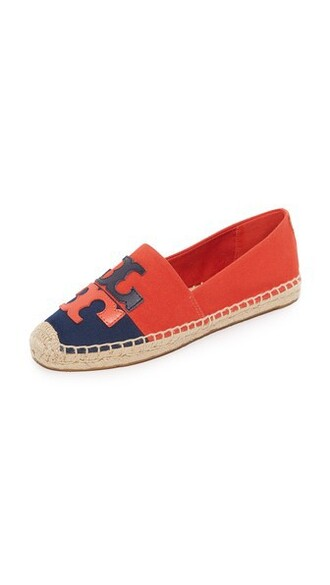 espadrilles navy red shoes