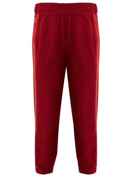 lndr pants track pants cotton burgundy