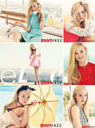 dress elle fanning editorial