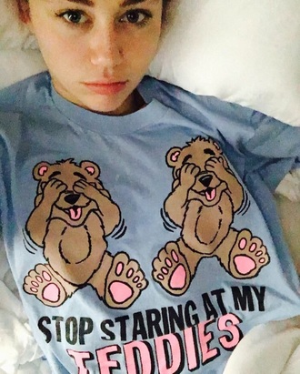 shirt miley cyrus funny blue