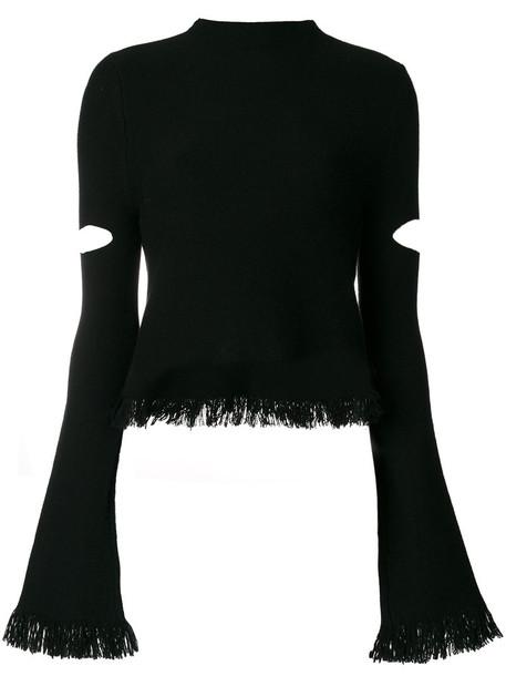 Zoe Jordan jumper cut-out women black wool sweater