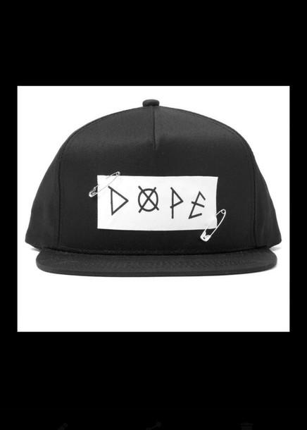 hat snapback black hat dope hat dope