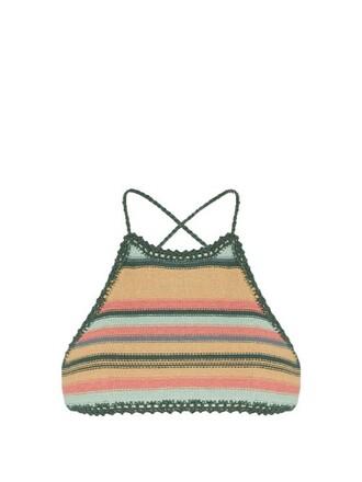 bikini bikini top crochet bikini crochet green swimwear