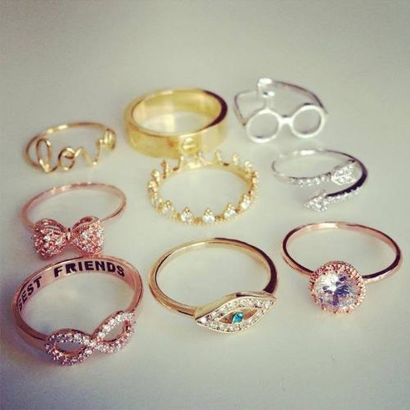 jewels jewel infinity eye beauty rings bestfriends