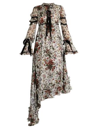 dress chiffon dress chiffon silk white print