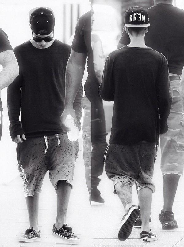 shorts justin bieber t-shirt