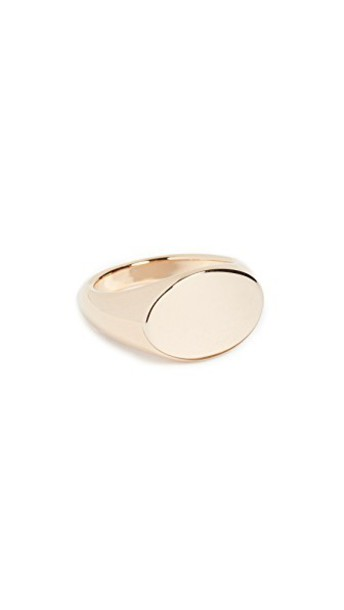 Cloverpost ring gold yellow jewels