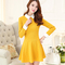 2015 new spring autumn korea style long sleeve slim patchwork plus size women dress female vestidos casual clothing zl2663-in dresses from women's clothing & accessories on aliexpress.com | alibaba group