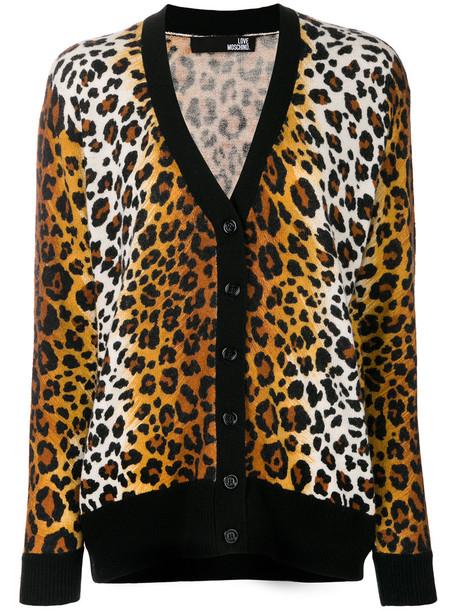 LOVE MOSCHINO cardigan cardigan women wool brown sweater